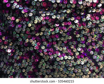 Fabric with sequins - multicolored