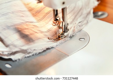 fabric sewn with sewing machine