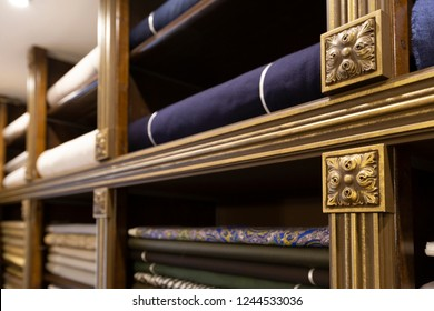 A fabric shop: luxury storage system for fine textile