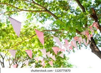 Fabric Stripe Bunting