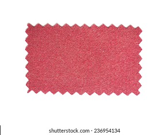 A fabric swatch with zig zag border cut with pinking shears