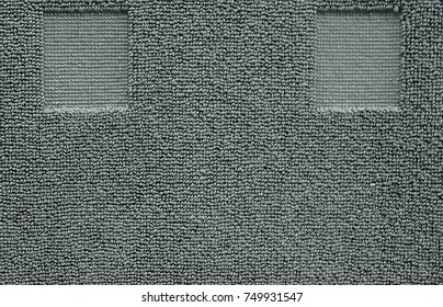 Fabric and Textile, Close Up of Gray Cotton Towel or Terry Texture Background with Copy Space for Text Decoration.