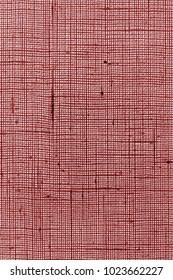 fabric or textile material of red color with rough texture in back light for a background or for wallpaper