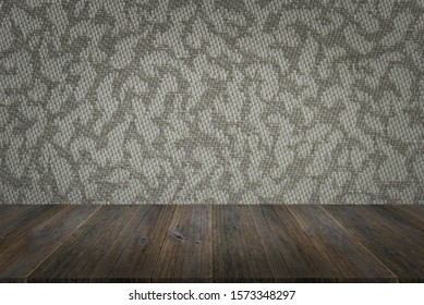 Fabric or textile texture abstract texture surface background use for background with wood table or terrace