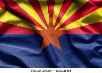 Fabric texture of the Arizona Flag - Flags from the USA