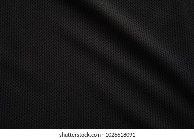 Fabric texture, Close up texture of black fabric or jersey pattern use for web design and wallpaper background