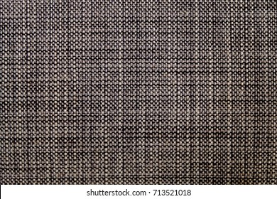 Fabric Texture, Close Up of Black and White Fabric Texture Pattern Background.