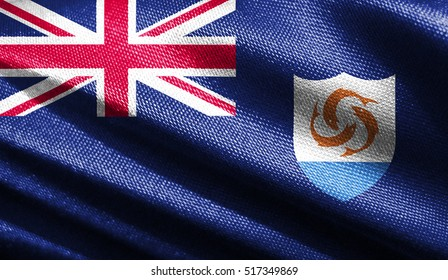 Fabric texture of the flag of Anguilla