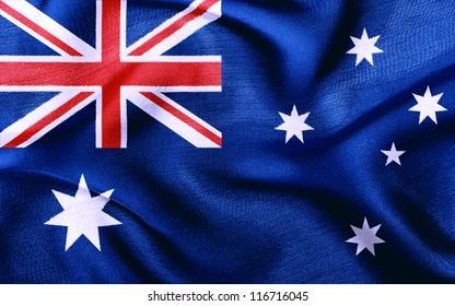Fabric texture of the flag of Australia