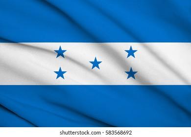 Fabric texture flag of honduras
