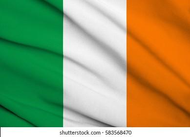 Fabric texture flag of ireland