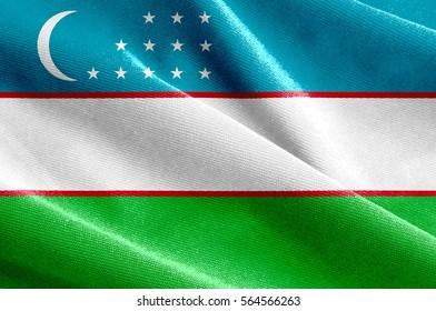 Fabric texture of the flag of Uzbekistan