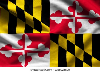 Fabric texture of the Maryland Flag - Flags from the USA