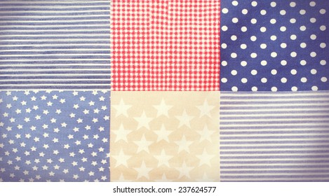 fabric texture in traditional American style