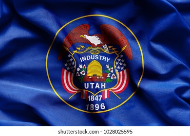 Fabric texture of the Utah Flag - Flags from the USA