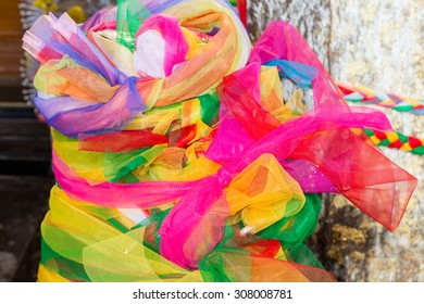 the fabric in three colors,Colorful background