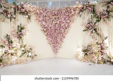 Fabulous Elegant Gorgeous Pink And White Wedding Centerpiece Decoration Design Decoration