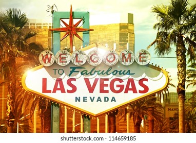 Fabulous Vegas - Welcome to Fabulous Las Vegas, Nevada - Vegas Strip Entrance Sign. American Cities Photo Collection - Shutterstock ID 114659185