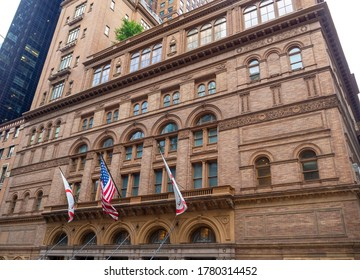 facade of 7th Avenue Carnegie Hall in New York City