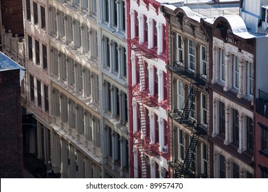 Facade of apartment Buildings in New York