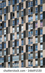 Facade of apartments building.