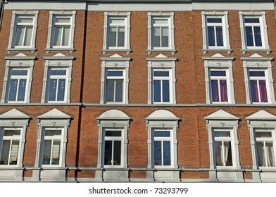 Facade of Art Nouveau building in Kiel, Germany