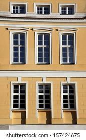facade of baroque palace in Rogalin, Poland