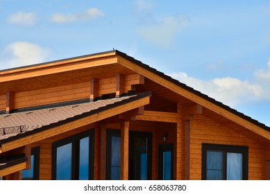 Facade of a beautiful wooden house