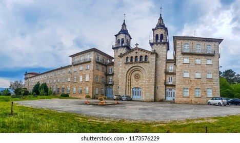 Facade and bell towers of Ourense major seminar building, restored in 1817