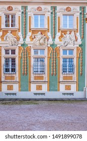 Facade of the bishop's residence in Bruchsal / Germany
