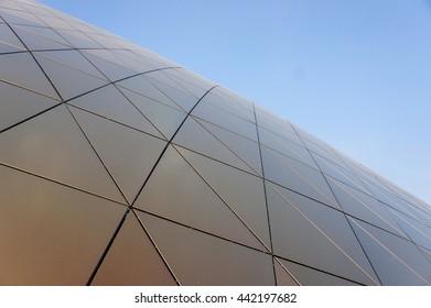 facade and blue sky