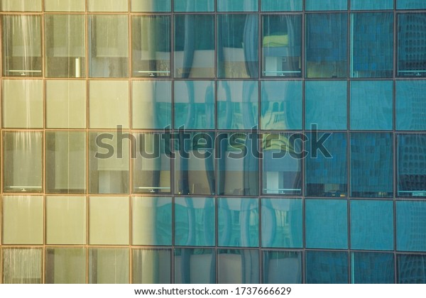 Facade of building in Barcelona,Spain. Architecture in Europe