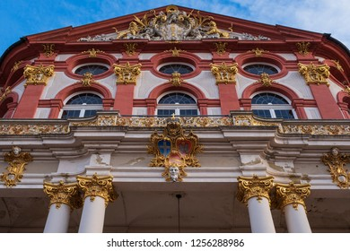 Facade of the castle of Bruchsal/Germany