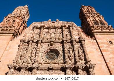 Facade of the Cathedral of Zacatecas (Mexico)