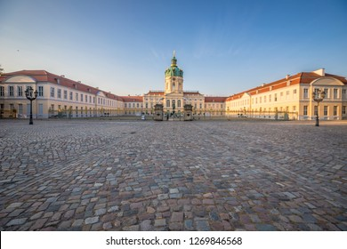 The facade of Charlottenburg Palace in Berlin