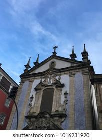 Facade of the Church Congregados Porto, Portugal. The picture was taken in February 2016.