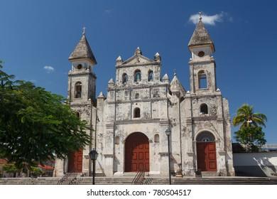 Facade of church in Granada, Nicaragua