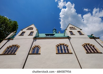 Facade of the city hall in Eisleben/Germany