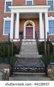 facade of colonial home