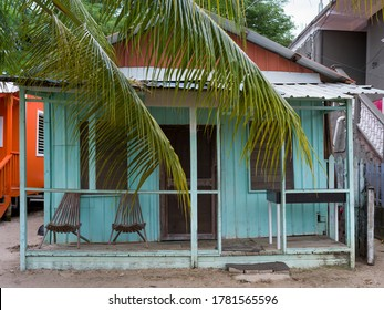 Facade of cottage, Placencia Peninsula, Belize