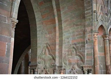 Facade detail of the Gothic architecture Parroquia de San Miguel Arcángel emblem of the historic town of San Miguel de Allende, Guanajuato Mexico.