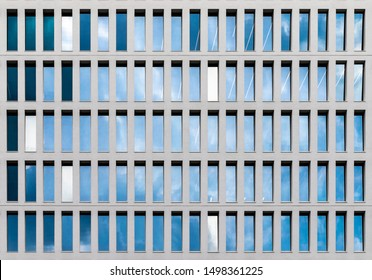 Facade Detail, repetitive texture in facade. From a Building in Milan 2019
