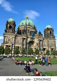 Facade of Evangelical Berliner Dom Berlin Cathedral - Supreme Parish and Collegiate Church located on Museum Island- Berlin, Germany 19/08/2016. The building was finished in 1905.