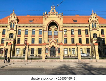Facade of the first Hospital of Riga, is the oldest civilian hospital in Latvia.