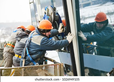 facade glass window installation