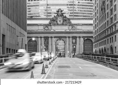 Facade of Grand Central Terminal  in New York, USA