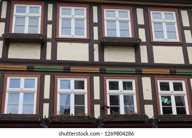 facade of a half-timbered house in germany