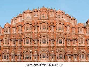 Facade of Hawa Mahal (Palace of Winds), Jaipur, Rajasthan, India