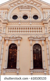 Facade of the historic building. Cental Europe style. Background