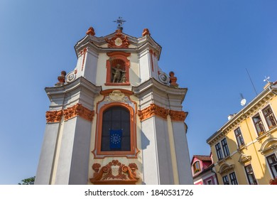 Facade of the historic Chram svateho Vaclava church in Litomerice, Czech Republic - Shutterstock ID 1840531726
